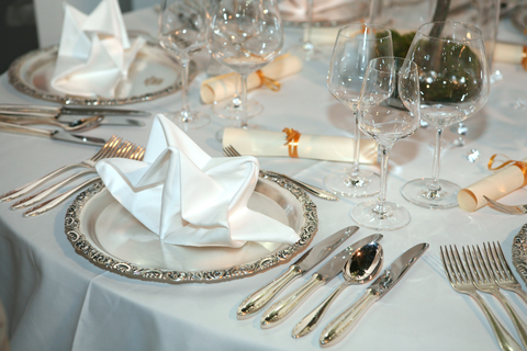 Formal Dinner Setting. Latest Detailed Of A Vintage Hand Drawn ...
